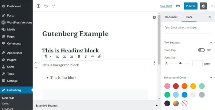 Nya wordpress 5 men gutenberg